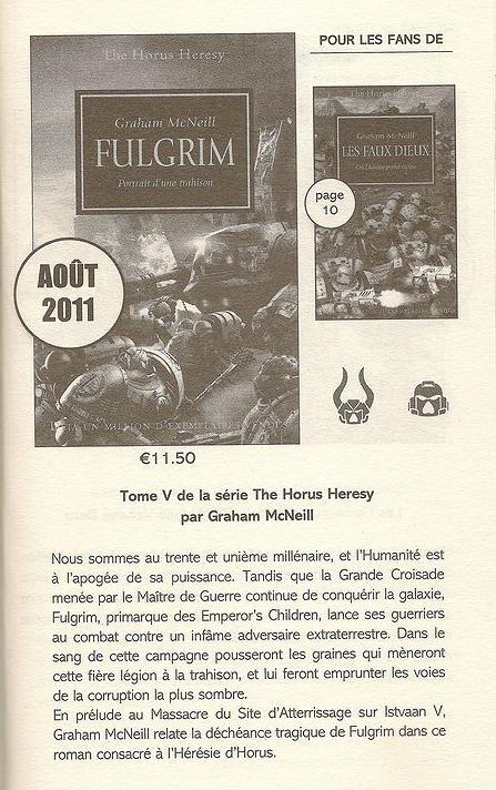 Fulgrim de Graham McNeill,  l'Hérésie d'Horus Tome 5 210251Fulgrim