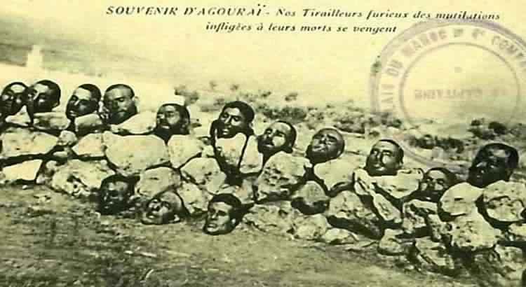 عندما أقدمت فرنسا على قطع رؤوس المقاومين المغاربة ووضع صورتهم على بطاقة بريدية 217875taba3750x410