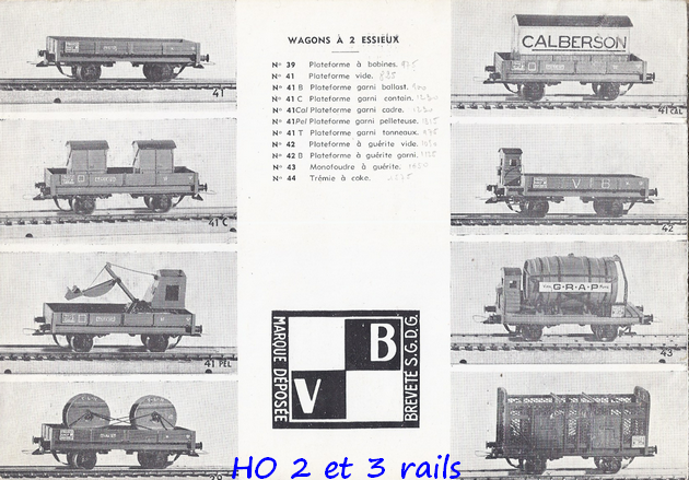 Catalogues 1950 et 1954 couverture photo (extraits) 241510VBcatalogue19544R