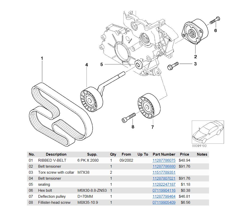 [ BMW E46 320D M47N an 2004 ] Changer galet tendeur courroie accessoires 25420786gg