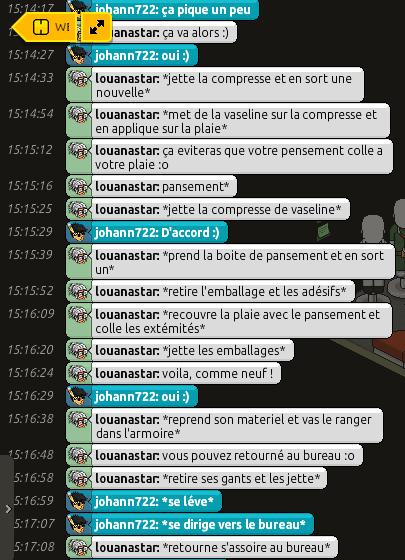 [CHU] Rapports d'actions RP de louanastar 256033RP33