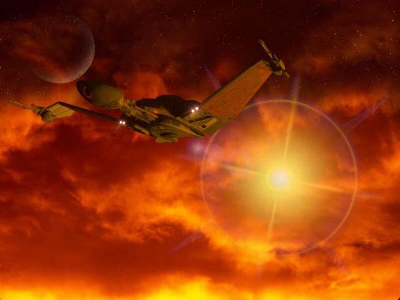 Negh'Var 260919Klingon_ship_taking_off_at_sunrise