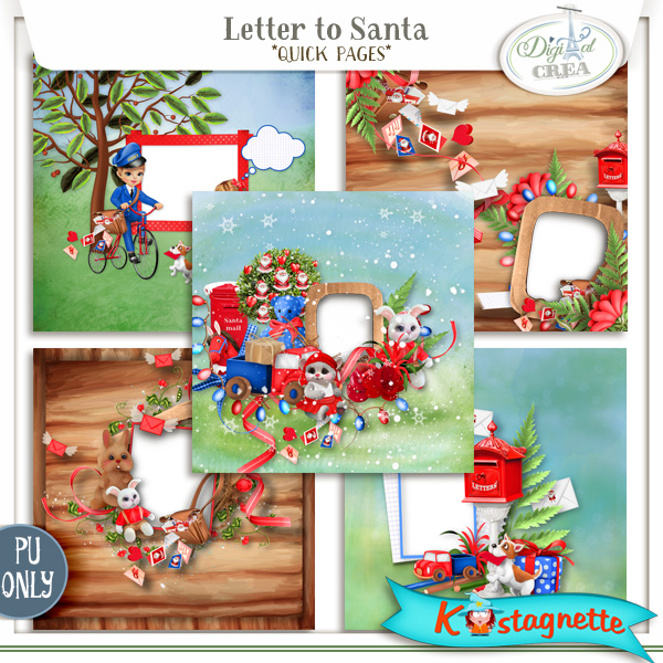 Collection Letter to Santa de Kastagnette + Mega Kit Freebie 268597223