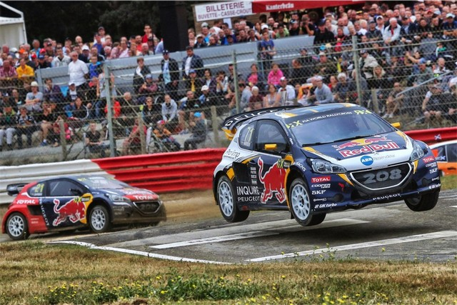 Rallycross - Beau podium de Sébastien Loeb et la PEUGEOT 208 WRX à domicile 2691042016RXFrance854