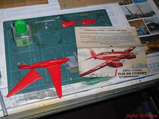 DE HAVILLAND D H88 kit Airfix 1959 280778DSCN9364Copier