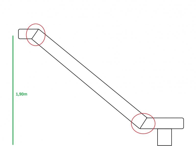 Projet de toboggant pour la cabane dans les arbres de mon fils, vos idées? - Page 2 287153Croquistoboggan