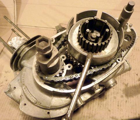 MZ 125 TS changement de roulements d'une MZ 125TS 289195P1030129