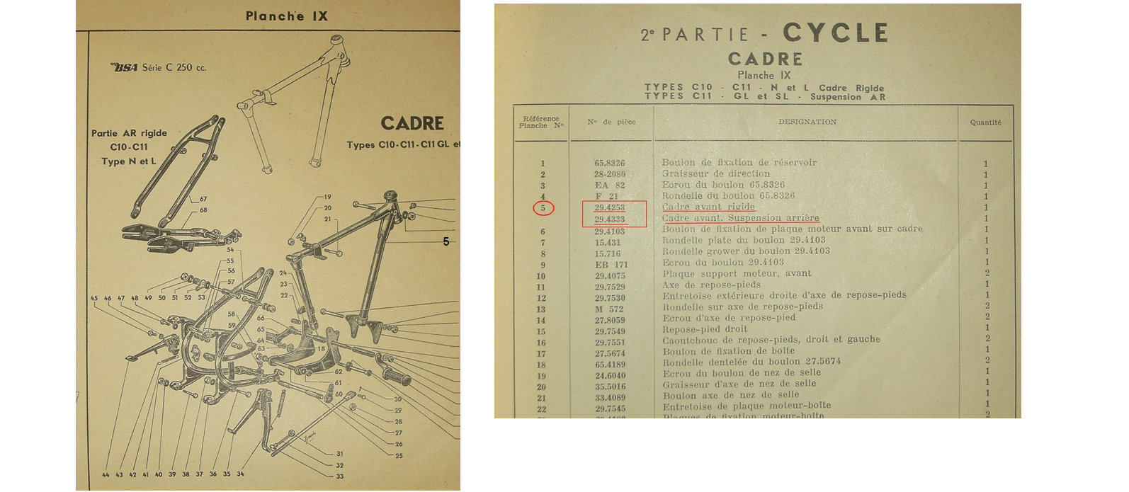 C11 rigide /coulissante 290245cadrec11