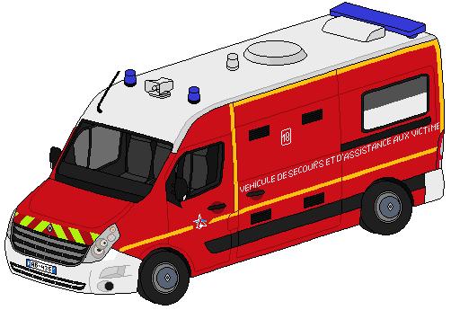 Pixel art véhicules de secours divers 291038RenaultMasterIIIVSAV