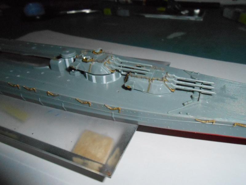 Yamato 1/700 fuji, PE,Pont en bois et babioles 303530tt019