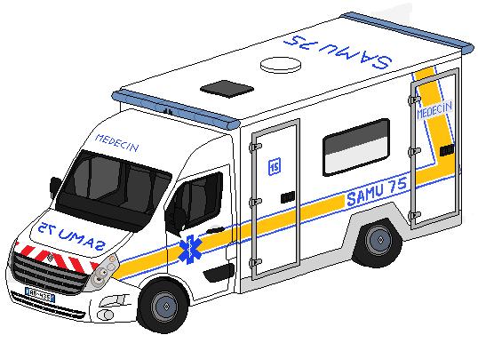 Pixel art véhicules de secours divers 306669SAMURenaultMasterIII