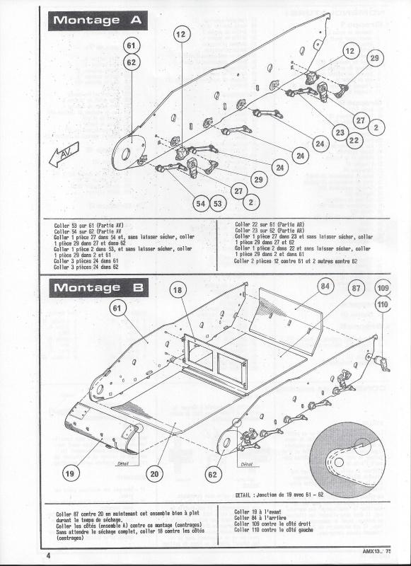 AMX 13 canon de 75 1/35ème Réf L 784 308020AMX1375784005Heller135