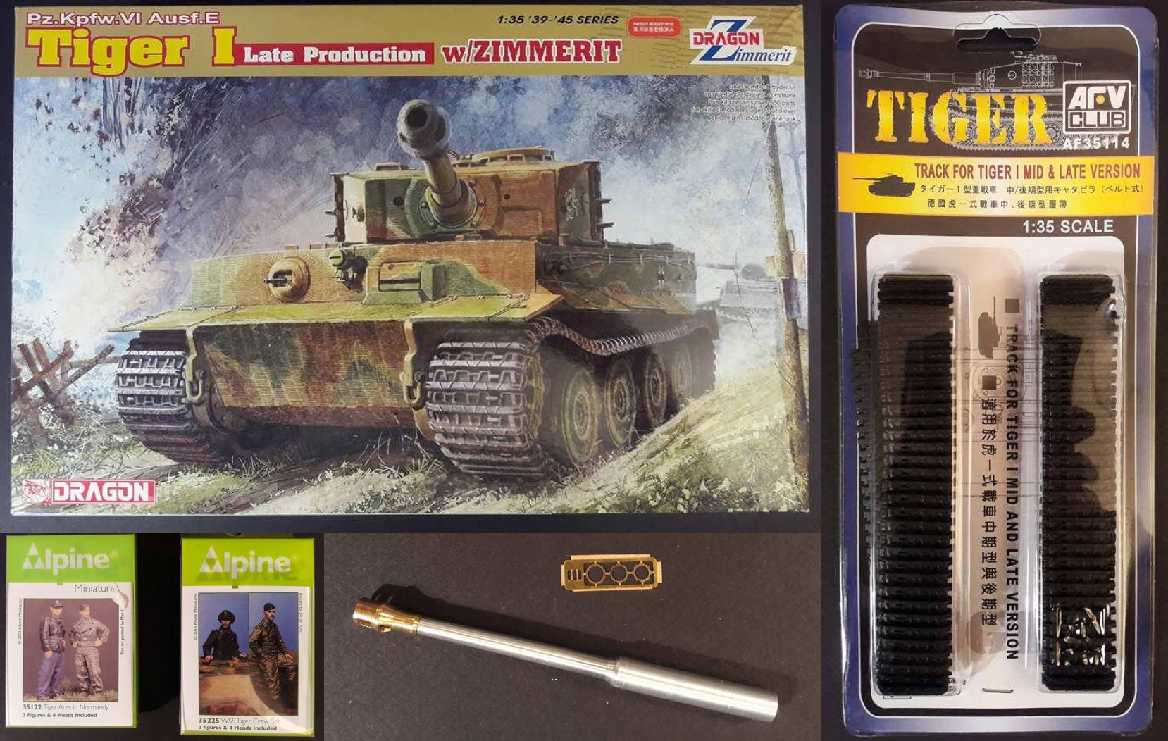 Tiger I Late production - Normandie 1944 - Dragon - 1/35 314458KitTigerI