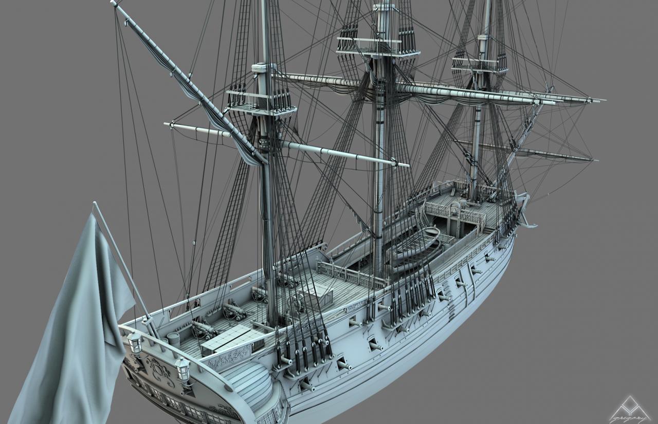 Frégate 36 canons XVIII° (Création 3D) par Greg_3D - Page 6 316648FrgatelightroomR16bois