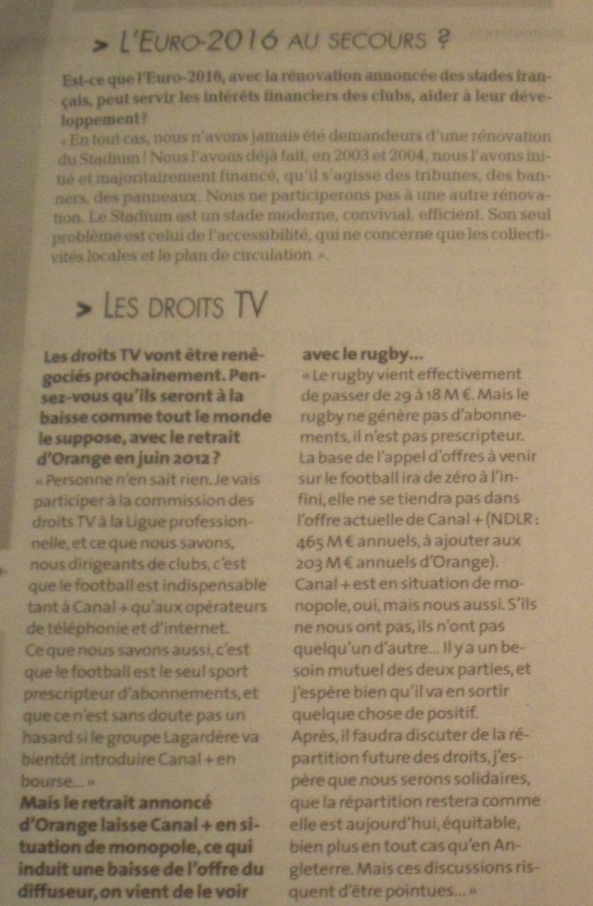 CHAINES DE  FOOT A LA TELE  : CFOOT/ C+ TF1 M6 ET LES AUTRES  - Page 2 326519IMGP5239