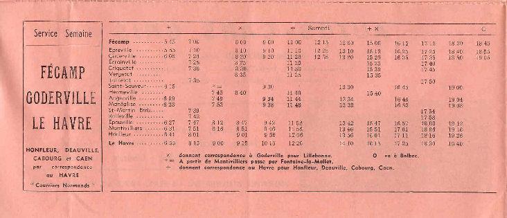 Fécamp - Cars Arcangioli  332682Autocarsgrishoraire19732