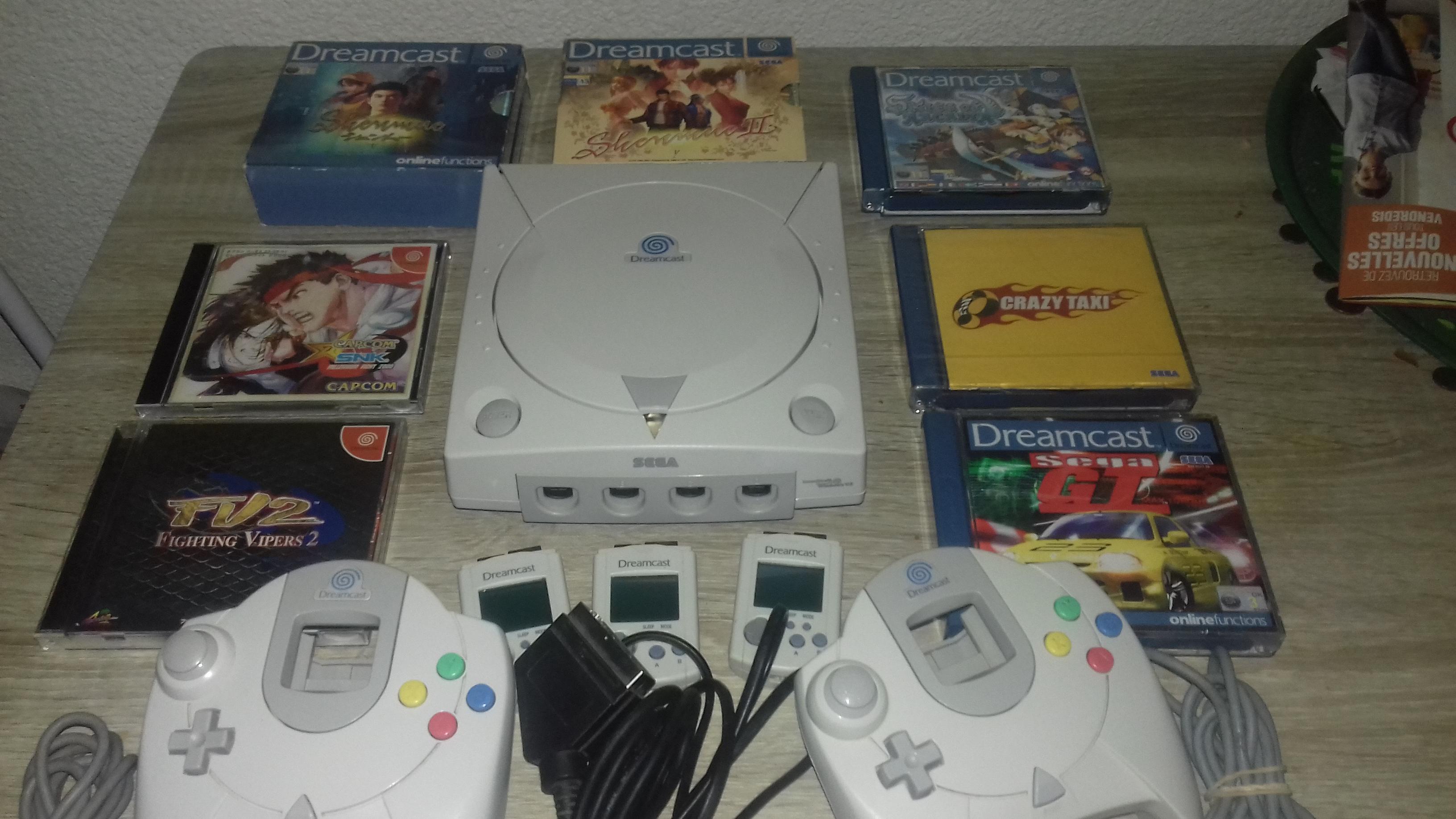 [VDS] Lot Dreamcast + 7 Jeux 34269620170530172913