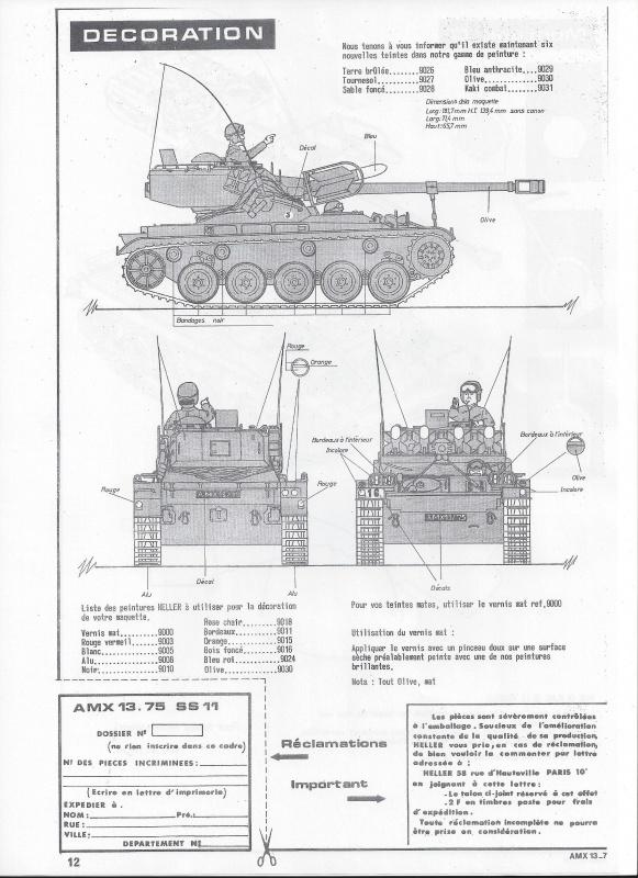 AMX 13 canon de 75 1/35ème Réf L 784 346016AMX1375784013Heller135