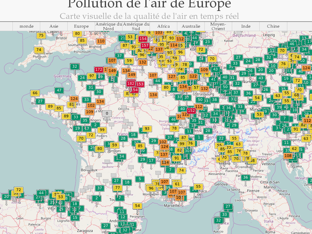 [Pollution de l'air] Alerte Pics de Pollution 350987carte