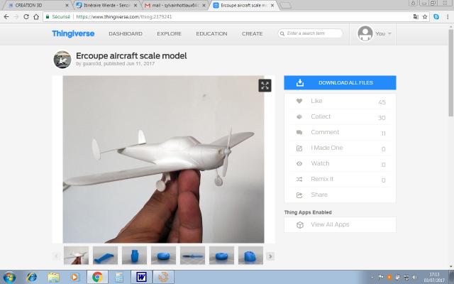 L'impression 3D: présentation du futur du maquettisme!  359137ThingiverseErcoupe1937