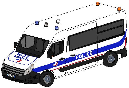 Pixel art véhicules de secours divers 369684RenaultMasterIIIPoliceNationale