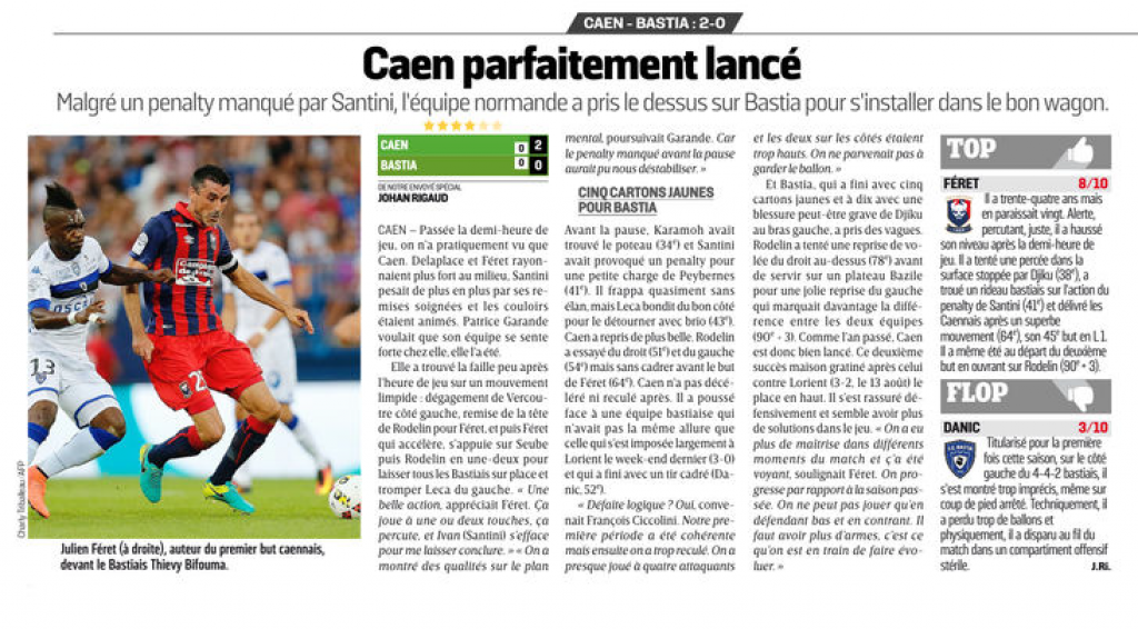[3e journée de L1] SM Caen 2-0 SC Bastia 375345bastia