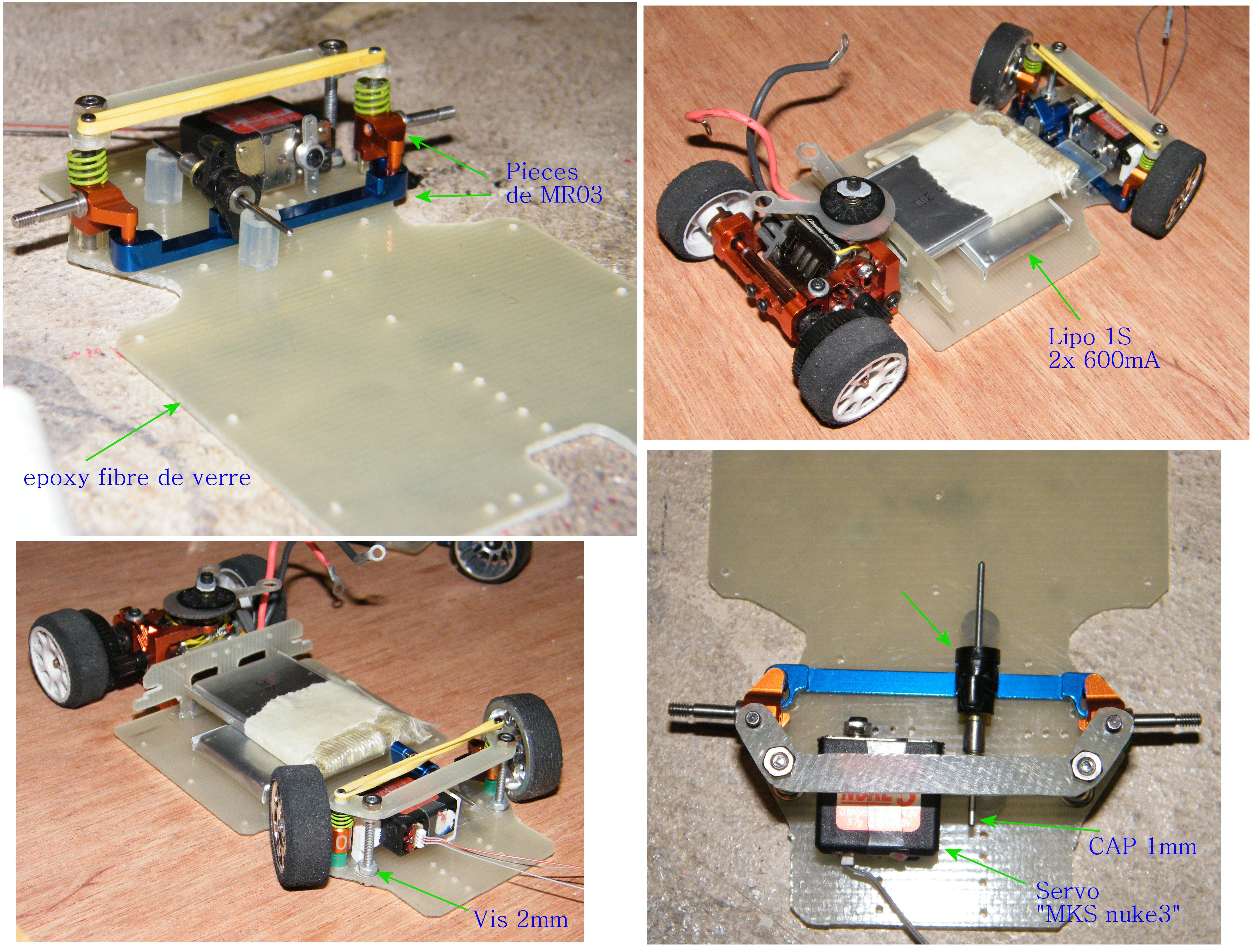 proto mr02 brushless , proto brushed , carro lola perso a leds sans fils  385949821