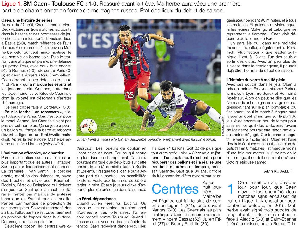 [8e journée de L1] SM Caen 1-0 Toulouse FC 392557bilan