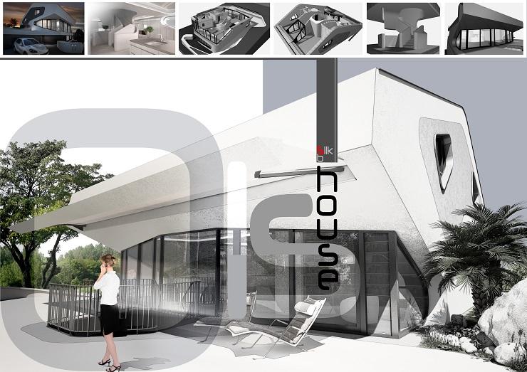"""Challenge thème : """"modélisation et rendu d'une maison atypique"""" - Silk37 & SB - ArchiCAD 17 - 3DS/V-Ray - Photoshop 401101pres2"""