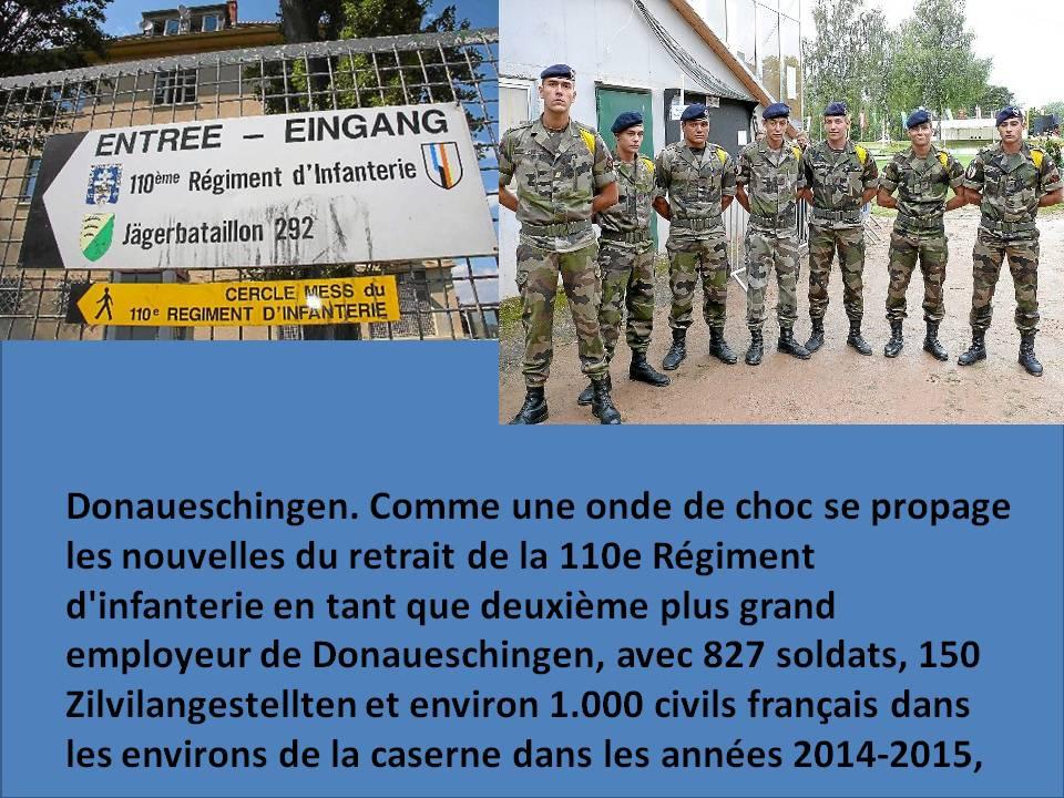 Brigade franco-allemande: dissolution du 110e régiment d'infanterie français de Donaueschingen  408819ondechoque110ri
