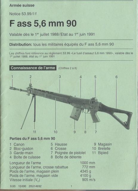 Notice sur le F.ass 90  Suisse 426384Fas90