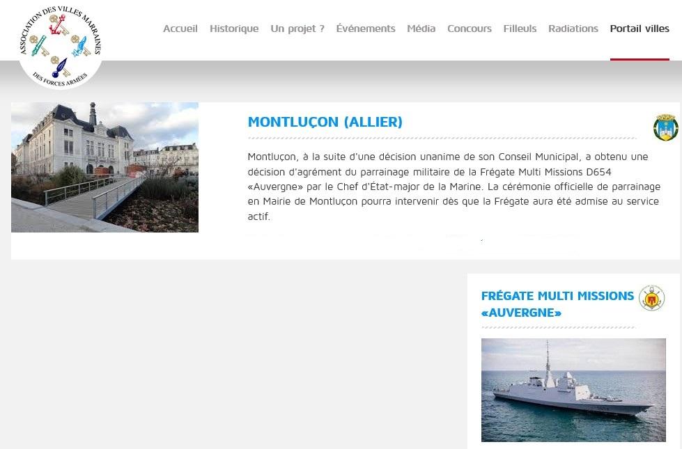 [Les traditions dans la Marine] Les Villes Marraines - Page 10 433152Auvergne