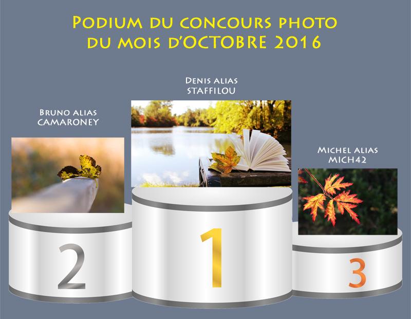 """Concours photo du mois d'octobre 2016 - Thème """"Une feuille d'automne"""" (terminé) 443969Podiumoctobre2016"""