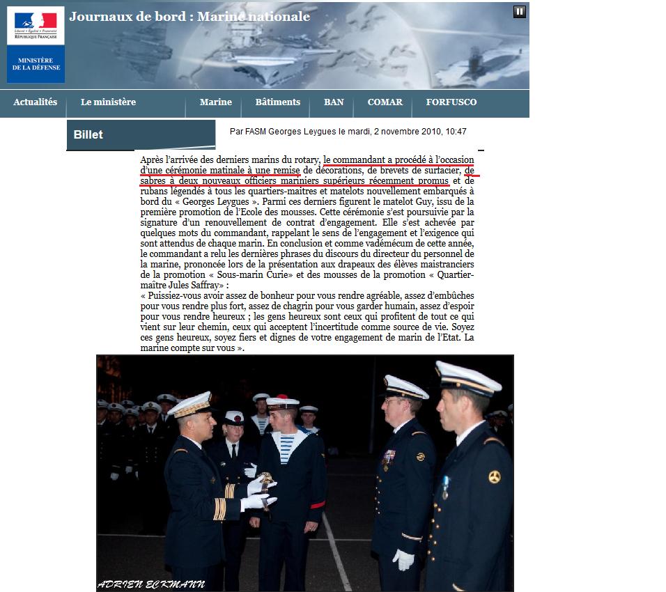 [Les traditions dans la Marine] Le port du sabre - Page 3 457763FASM