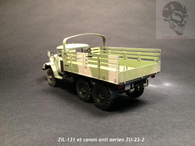 ZIL-131 avec canon anti-aérien ZU-23 en Afghanistan,maquette revell 1/35 472902IMG4526