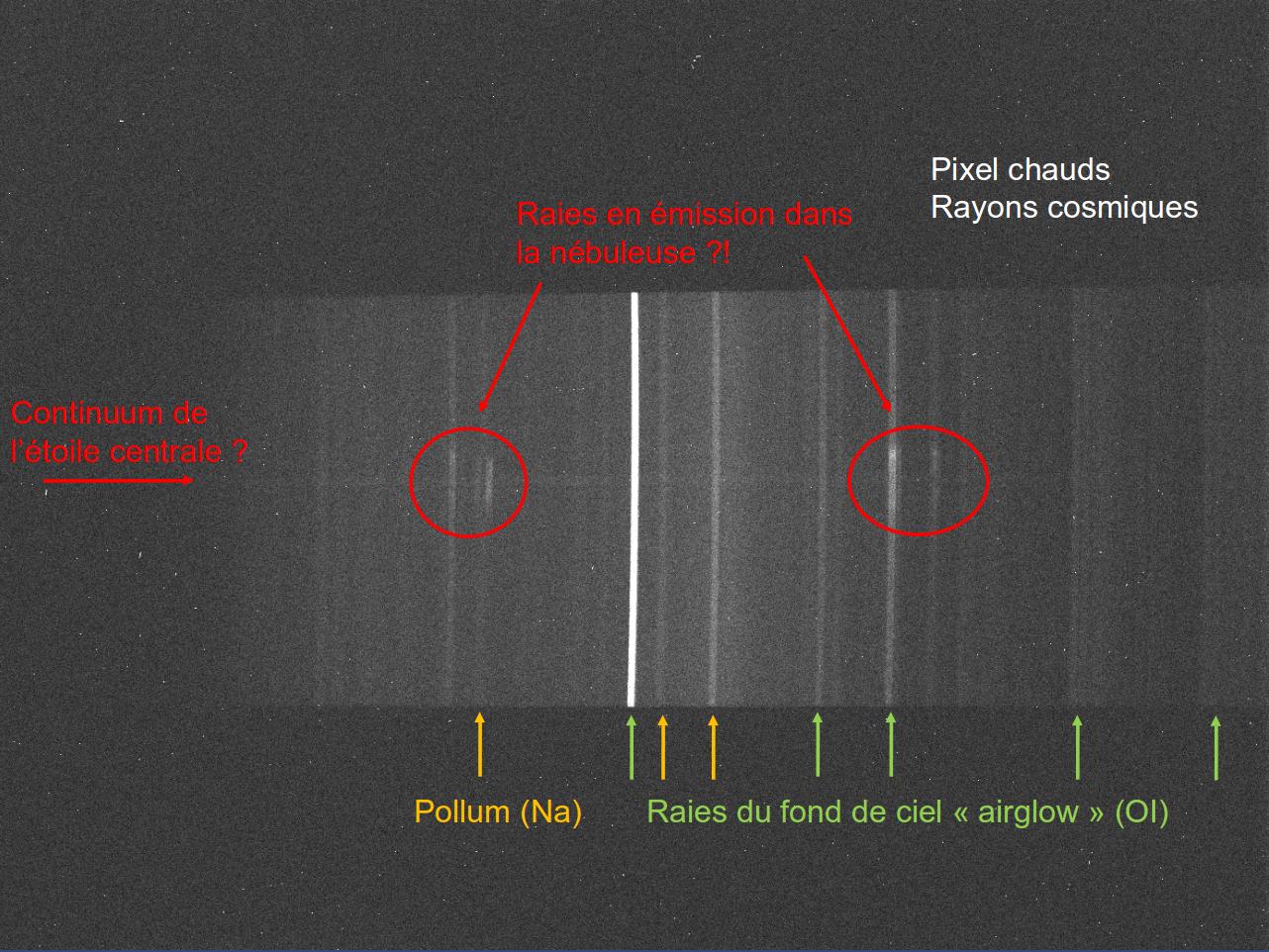 Confirmation de nébuleuses planétaires candidates au Pic 474103SpectrebrutTe11annot