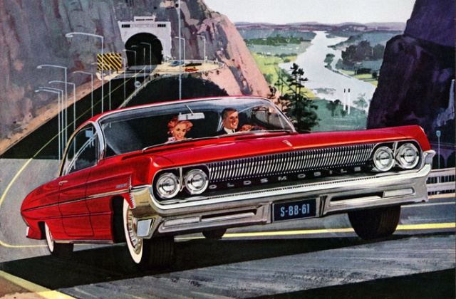 Antique Cars Adverts Revised 480136olds61red