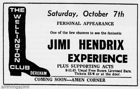 Dereham, Norfolks (The Wellington Club) : 7 octobre 1967 506151Wellingtonn