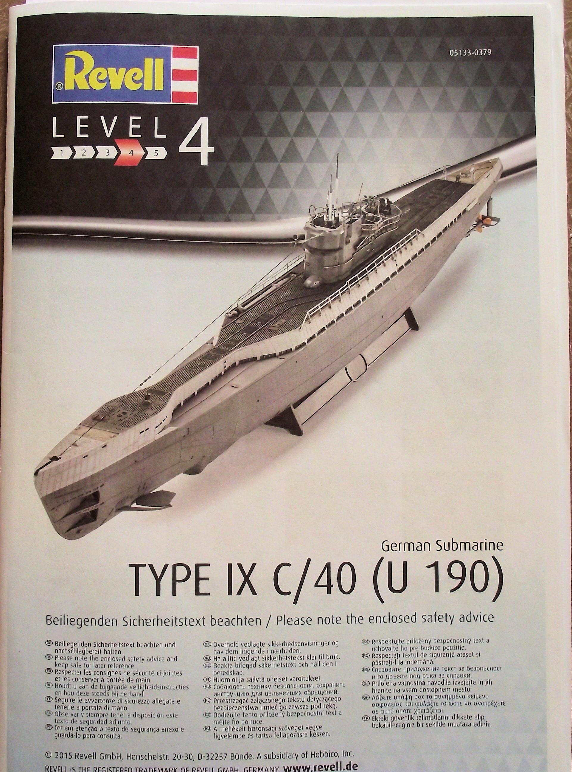 U Boot type IX 1/72 revell 543794UbootRevell1x724