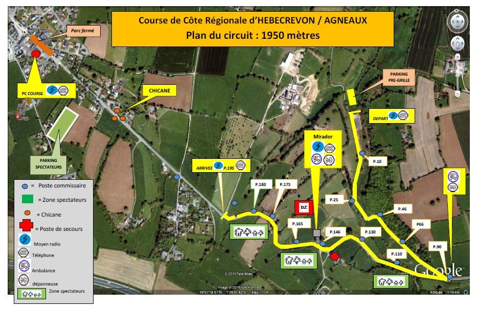 35e Course de Côte régionale de Thereval Agneaux - 25 et 26 mars 2017 5632722017planducircuithebecrevon