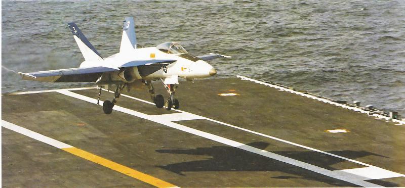 MCDONNELL-DOUGLAS F/A-18 HORNET  583342F_18A_Proto_3_USS_America