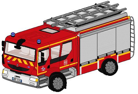 Pixel art véhicules de secours divers 589006CamiondePompierintrieurblanc