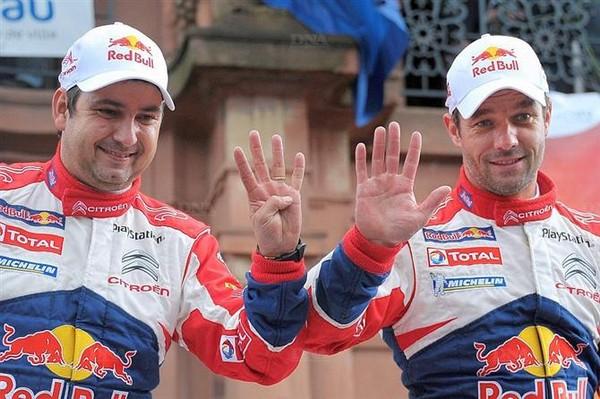 WRC Rallye de France Alsace 2012 : Loeb s'offre son 9ème titre  5901772012rallyedefrancesebastienloebdanielelena2
