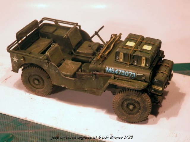 jeep indochine - 6 pdr ,jeep ,équipage airborne Bronco 1/35 (sur la route de Ouistreham) 598040P5060111