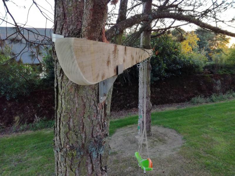 Projet de toboggant pour la cabane dans les arbres de mon fils, vos idées? 602120IMG20161006191030