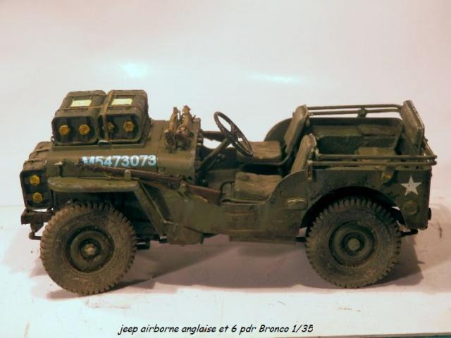 jeep indochine - 6 pdr ,jeep ,équipage airborne Bronco 1/35 (sur la route de Ouistreham) 607881P5060109