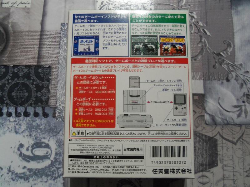 [EST] Super Gameboy Player 2 neuf en boite + SGB commander HORI  6236251004015