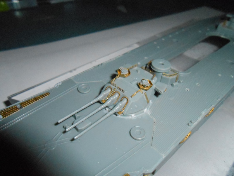 Yamato 1/700 fuji, PE,Pont en bois et babioles 641803tt016