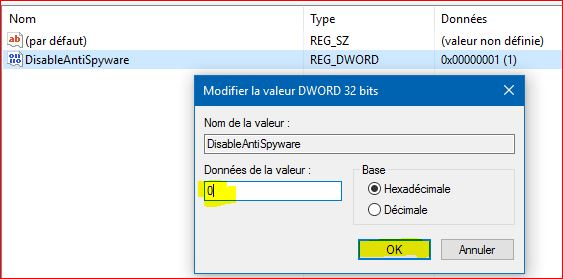 Windows Defender Désactivé 65020705WindowsDefender
