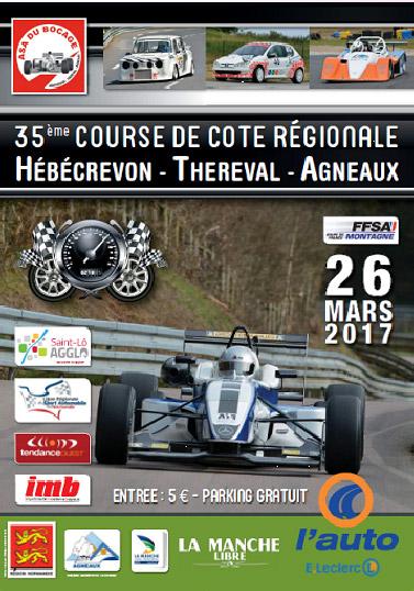 35e Course de Côte régionale de Thereval Agneaux - 25 et 26 mars 2017 651373affichetheagn17